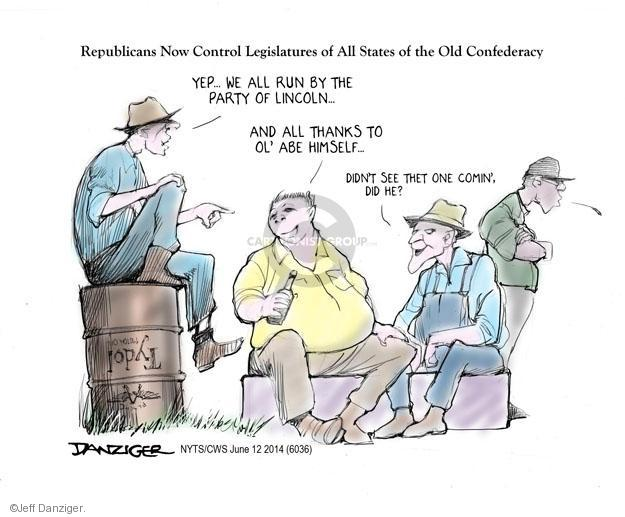 Cartoonist Jeff Danziger  Jeff Danziger's Editorial Cartoons 2014-06-12 republican