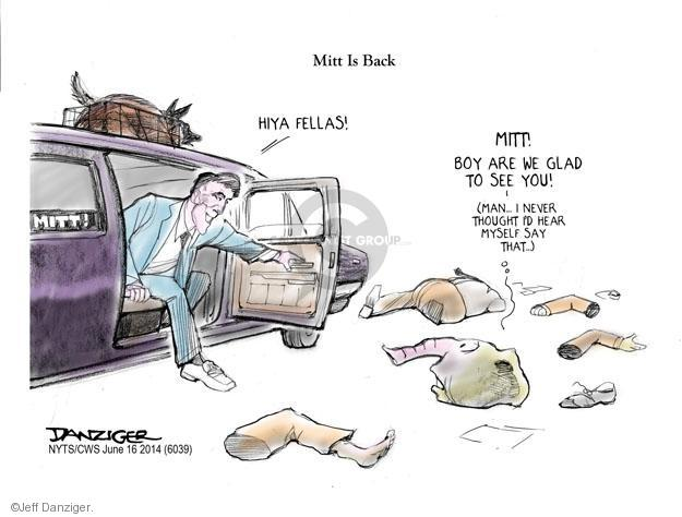 Cartoonist Jeff Danziger  Jeff Danziger's Editorial Cartoons 2014-06-16 Mitt