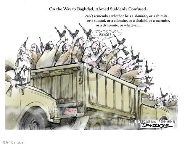 Cartoonist Jeff Danziger  Jeff Danziger's Editorial Cartoons 2014-06-17 international relations