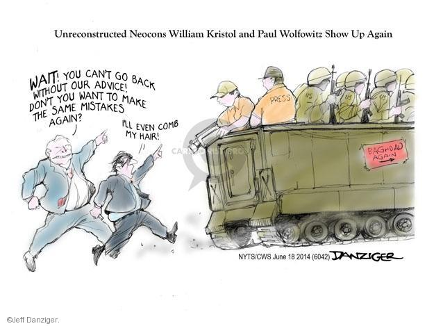 Cartoonist Jeff Danziger  Jeff Danziger's Editorial Cartoons 2014-06-18 press secretary
