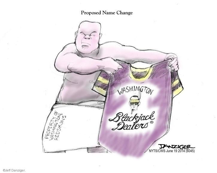 Cartoonist Jeff Danziger  Jeff Danziger's Editorial Cartoons 2014-06-19 Native American