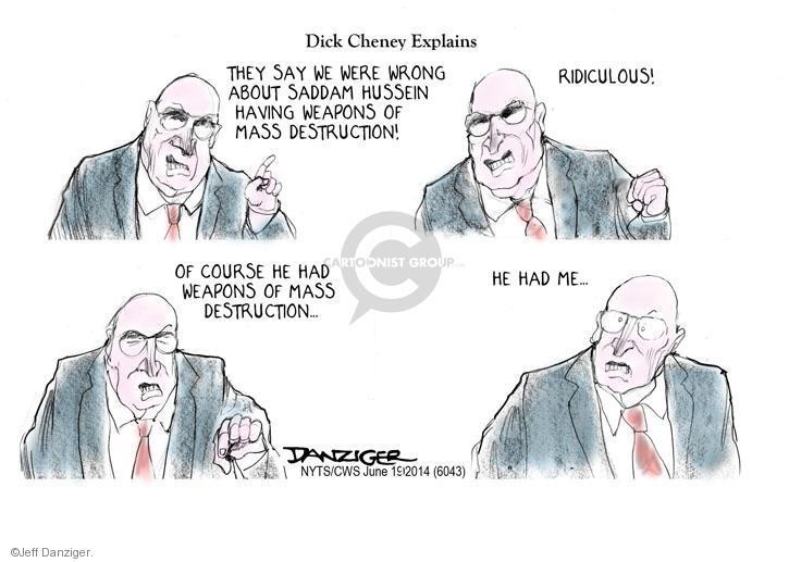 Cartoonist Jeff Danziger  Jeff Danziger's Editorial Cartoons 2014-06-19 destruction