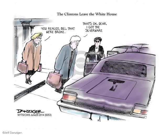 Jeff Danziger  Jeff Danziger's Editorial Cartoons 2014-06-29 Bill Clinton