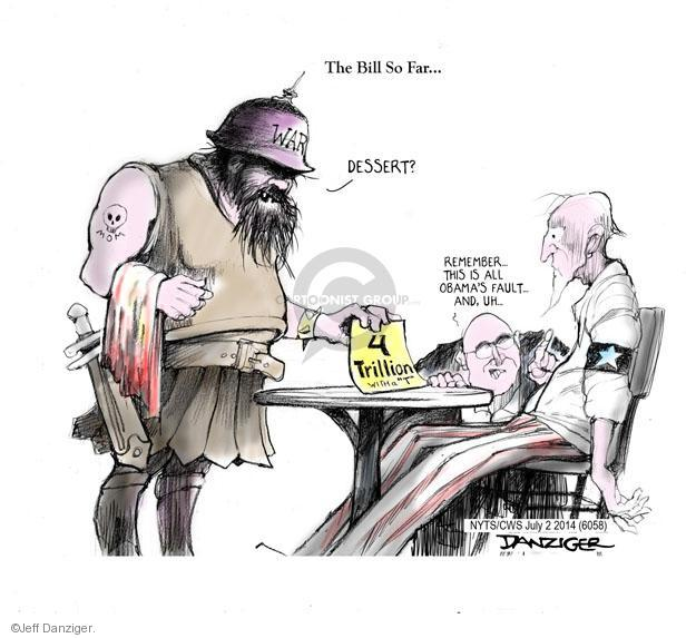 Jeff Danziger  Jeff Danziger's Editorial Cartoons 2014-07-02 Bush administration