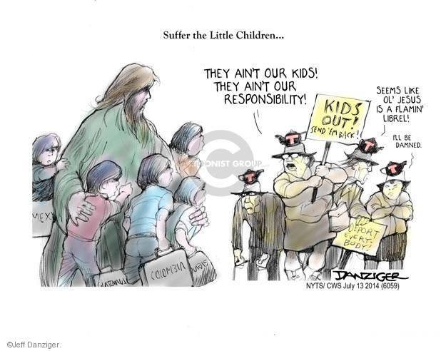 Cartoonist Jeff Danziger  Jeff Danziger's Editorial Cartoons 2014-07-13 detention