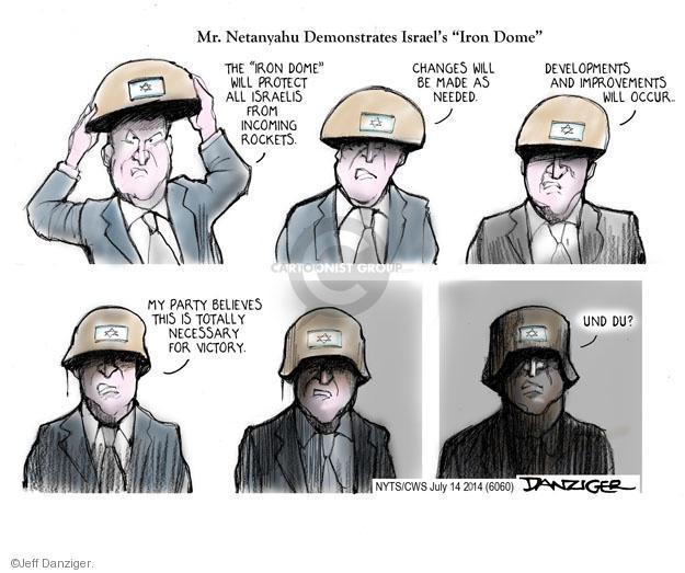 Cartoonist Jeff Danziger  Jeff Danziger's Editorial Cartoons 2014-07-14 Israel Palestine