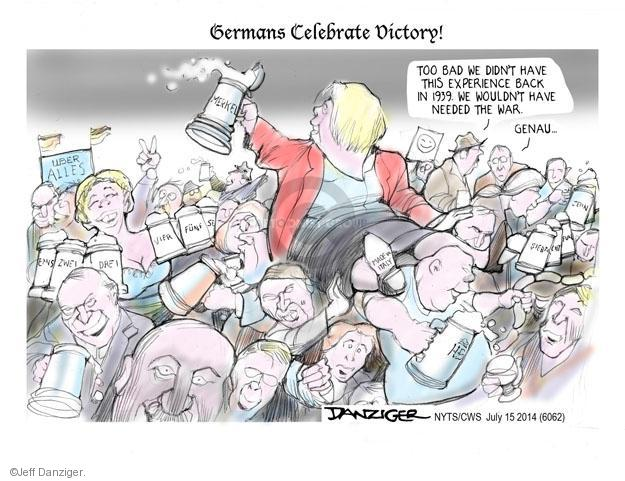 Cartoonist Jeff Danziger  Jeff Danziger's Editorial Cartoons 2014-07-15 championship