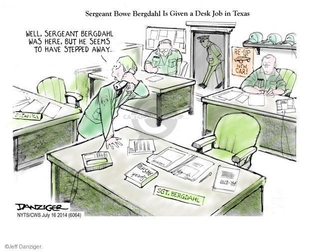 Cartoonist Jeff Danziger  Jeff Danziger's Editorial Cartoons 2014-07-16 prisoner
