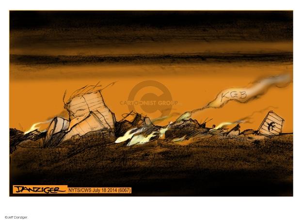 Cartoonist Jeff Danziger  Jeff Danziger's Editorial Cartoons 2014-07-18 Soviet Union