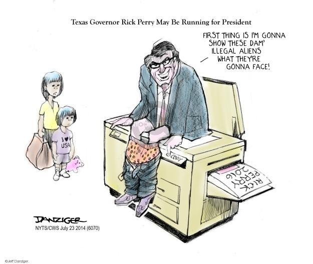 Cartoonist Jeff Danziger  Jeff Danziger's Editorial Cartoons 2014-06-23 illegal immigrant