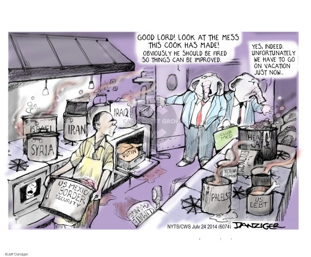 Cartoonist Jeff Danziger  Jeff Danziger's Editorial Cartoons 2014-07-24 affordable care act