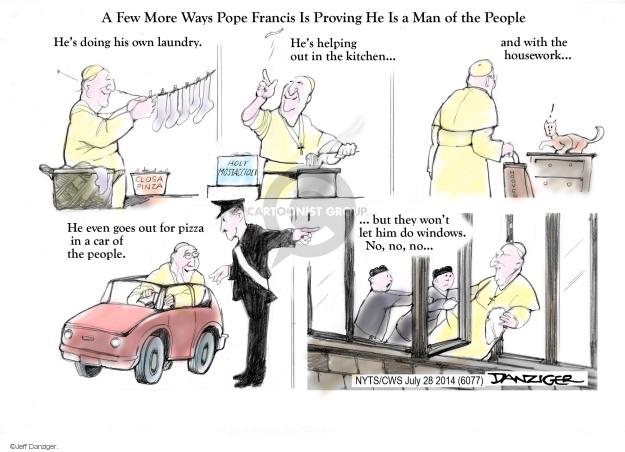 Cartoonist Jeff Danziger  Jeff Danziger's Editorial Cartoons 2014-07-28 pope