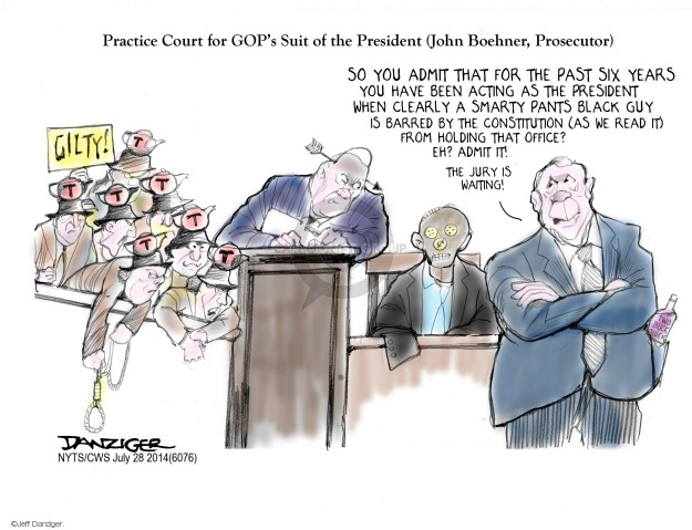 Jeff Danziger  Jeff Danziger's Editorial Cartoons 2014-07-28 executive branch