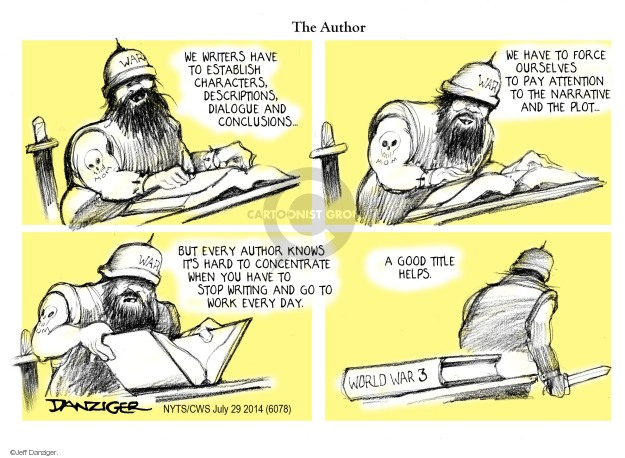 Cartoonist Jeff Danziger  Jeff Danziger's Editorial Cartoons 2014-07-29 attention