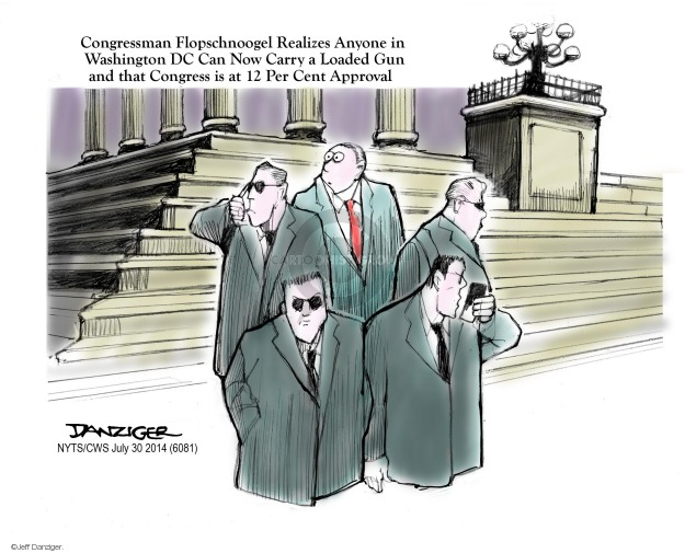 Cartoonist Jeff Danziger  Jeff Danziger's Editorial Cartoons 2014-07-30 arms