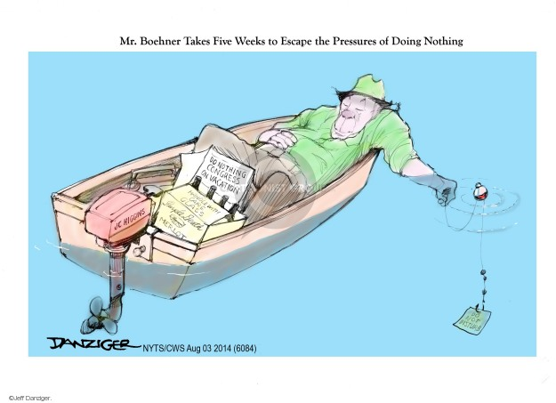 Jeff Danziger  Jeff Danziger's Editorial Cartoons 2014-08-03 congressional