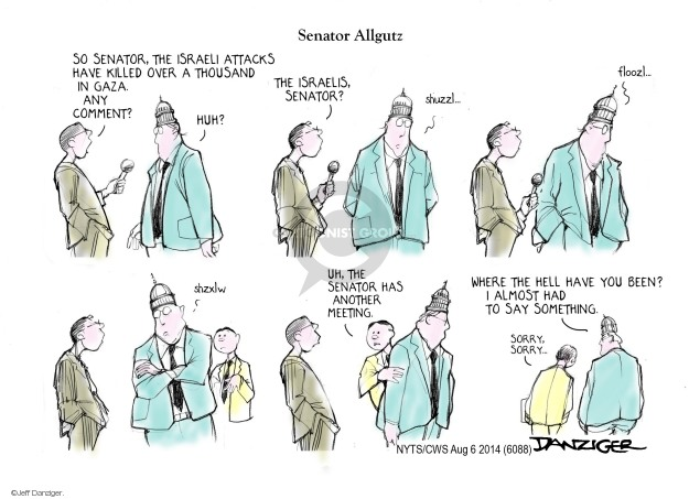Cartoonist Jeff Danziger  Jeff Danziger's Editorial Cartoons 2014-08-06 Israel