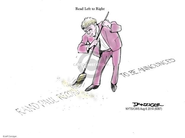 Cartoonist Jeff Danziger  Jeff Danziger's Editorial Cartoons 2014-08-06 position