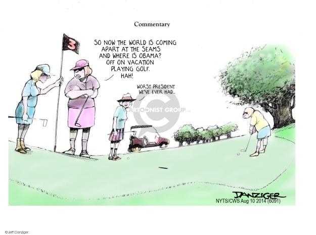 Jeff Danziger  Jeff Danziger's Editorial Cartoons 2014-08-10 Obama administration