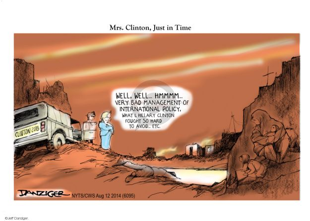 Cartoonist Jeff Danziger  Jeff Danziger's Editorial Cartoons 2014-08-12 international relations