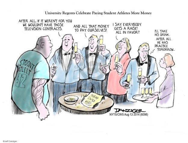 Cartoonist Jeff Danziger  Jeff Danziger's Editorial Cartoons 2014-08-14 college education