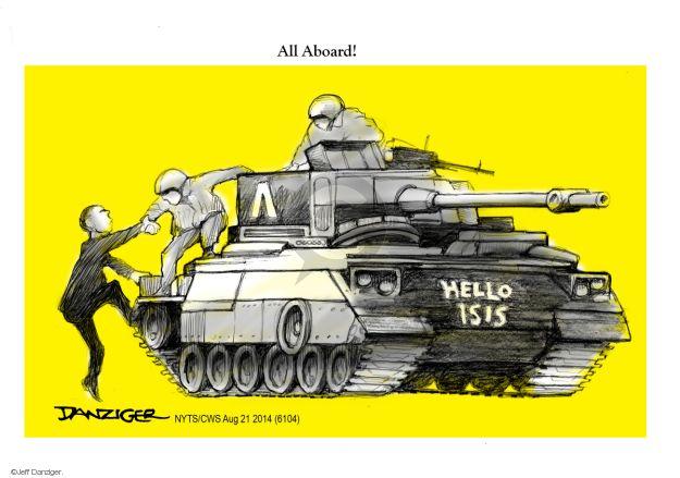 Cartoonist Jeff Danziger  Jeff Danziger's Editorial Cartoons 2014-08-21 weaponry