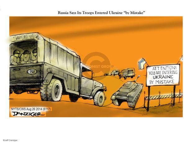 Cartoonist Jeff Danziger  Jeff Danziger's Editorial Cartoons 2014-08-26 attention