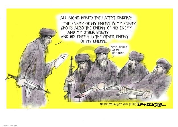 Cartoonist Jeff Danziger  Jeff Danziger's Editorial Cartoons 2014-08-27 international relations