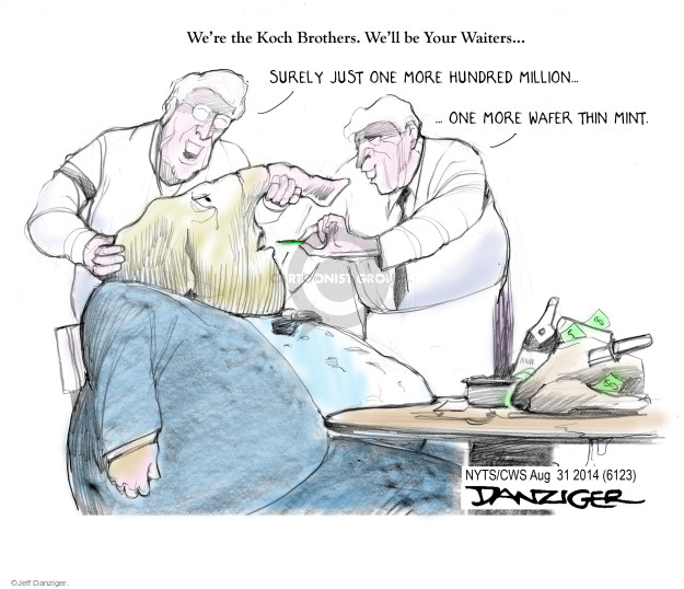 Cartoonist Jeff Danziger  Jeff Danziger's Editorial Cartoons 2014-08-31 David