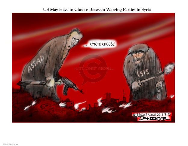 Cartoonist Jeff Danziger  Jeff Danziger's Editorial Cartoons 2014-08-31 unrest