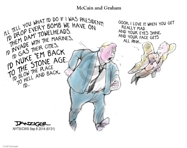 Cartoonist Jeff Danziger  Jeff Danziger's Editorial Cartoons 2014-09-08 gas