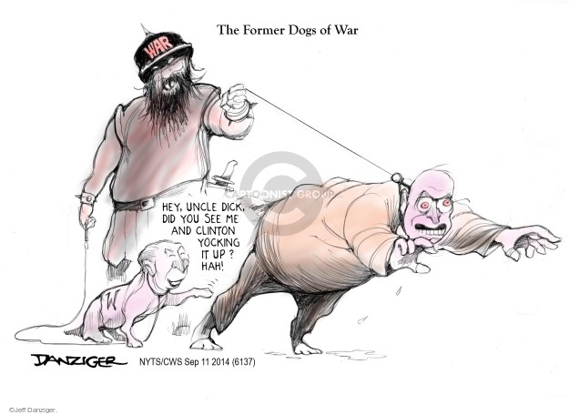 Cartoonist Jeff Danziger  Jeff Danziger's Editorial Cartoons 2014-09-11 George W. Bush