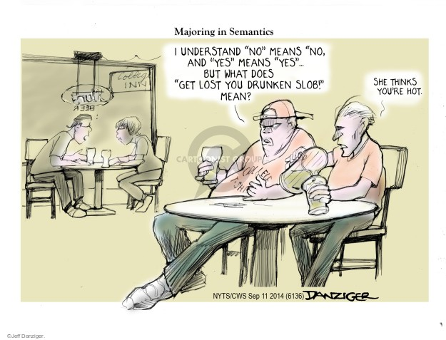 Cartoonist Jeff Danziger  Jeff Danziger's Editorial Cartoons 2014-09-11 college education