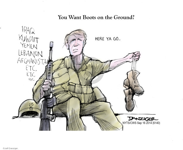 Cartoonist Jeff Danziger  Jeff Danziger's Editorial Cartoons 2014-09-16 international relations