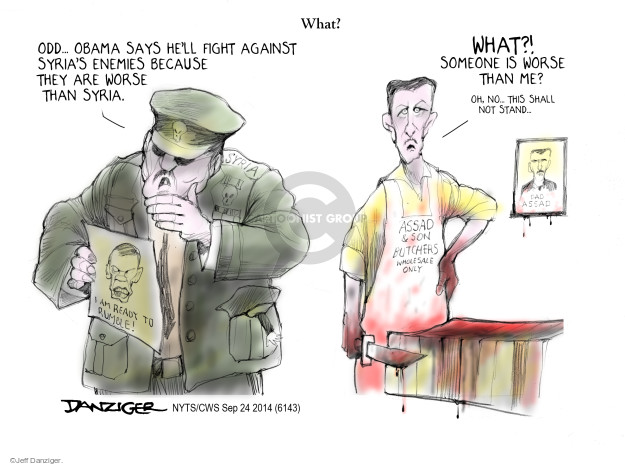 Cartoonist Jeff Danziger  Jeff Danziger's Editorial Cartoons 2014-09-24 al-Assad