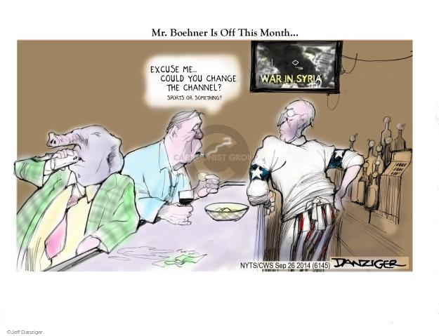 Cartoonist Jeff Danziger  Jeff Danziger's Editorial Cartoons 2014-09-26 vacation