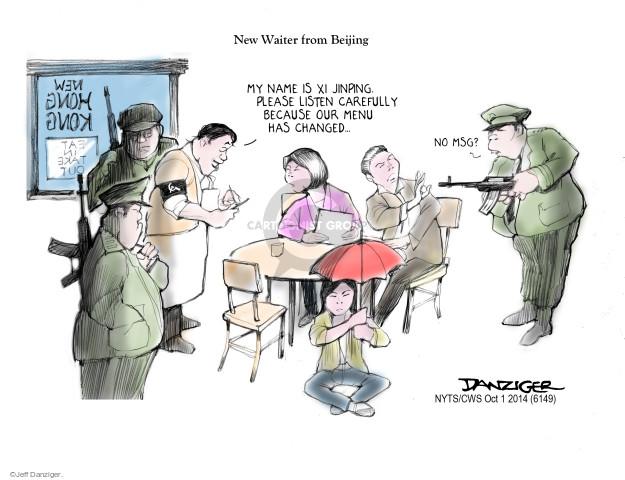 Jeff Danziger  Jeff Danziger's Editorial Cartoons 2014-10-01 China Hong Kong