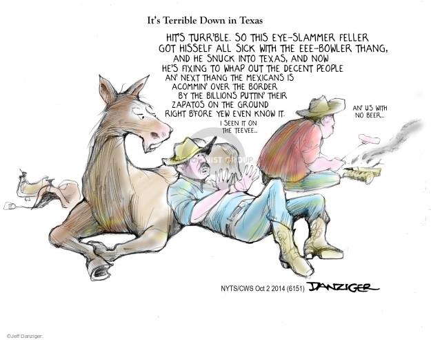 Cartoonist Jeff Danziger  Jeff Danziger's Editorial Cartoons 2014-10-02 people