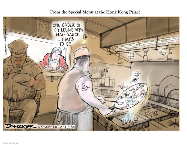 Jeff Danziger  Jeff Danziger's Editorial Cartoons 2014-10-03 China Hong Kong