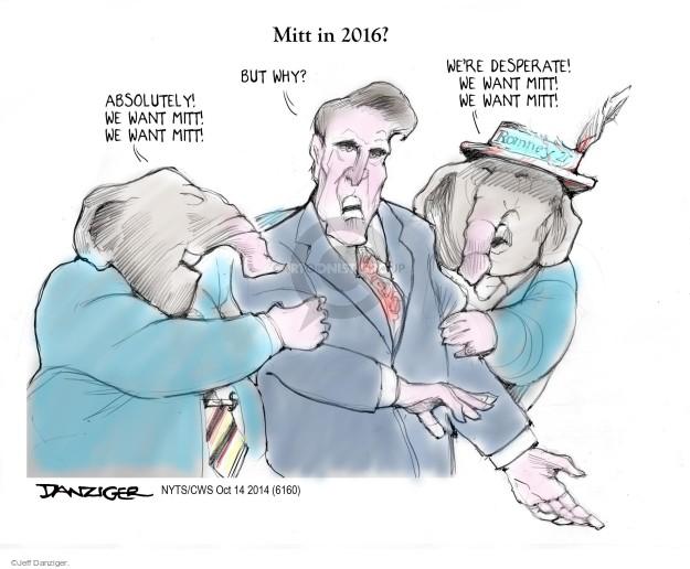 Cartoonist Jeff Danziger  Jeff Danziger's Editorial Cartoons 2014-10-16 Mitt