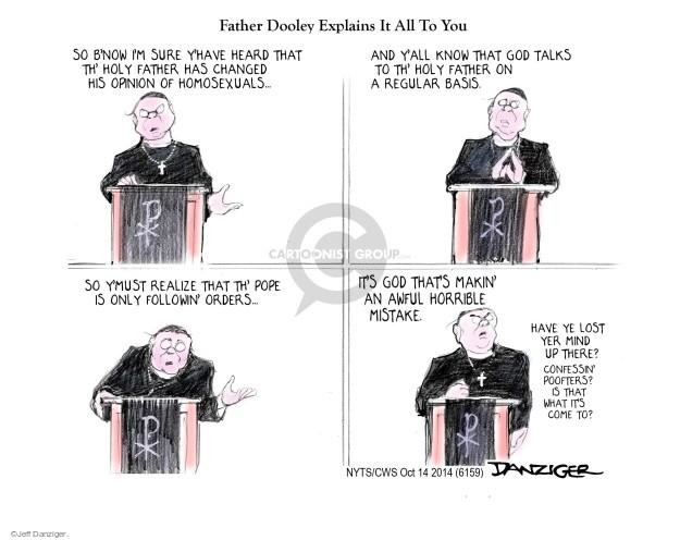 Cartoonist Jeff Danziger  Jeff Danziger's Editorial Cartoons 2014-10-14 opinion