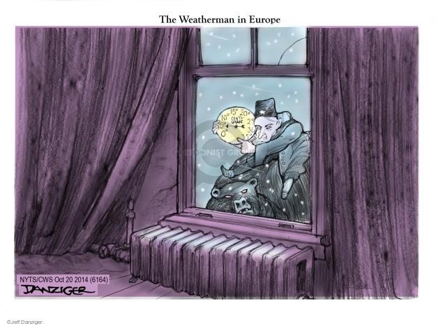 Jeff Danziger  Jeff Danziger's Editorial Cartoons 2014-10-20 weather