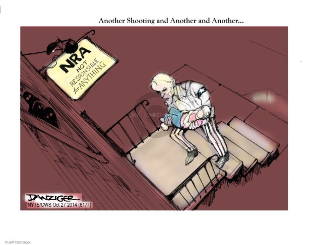 Cartoonist Jeff Danziger  Jeff Danziger's Editorial Cartoons 2014-10-27 arms