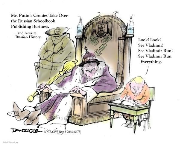 Cartoonist Jeff Danziger  Jeff Danziger's Editorial Cartoons 2014-11-03 book publishing