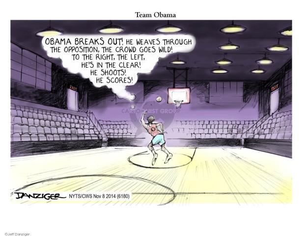 Cartoonist Jeff Danziger  Jeff Danziger's Editorial Cartoons 2014-11-08 basketball player
