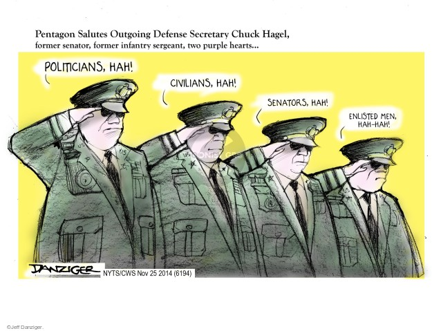Jeff Danziger  Jeff Danziger's Editorial Cartoons 2014-11-25 armed forces
