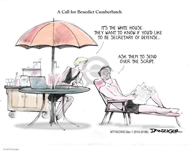 Cartoonist Jeff Danziger  Jeff Danziger's Editorial Cartoons 2014-12-01 appointment