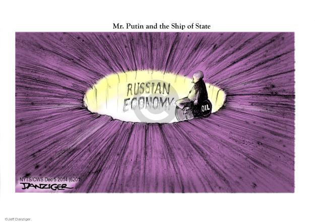 Cartoonist Jeff Danziger  Jeff Danziger's Editorial Cartoons 2014-12-05 fuel