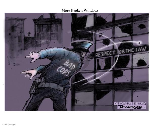 Cartoonist Jeff Danziger  Jeff Danziger's Editorial Cartoons 2014-12-09 respect