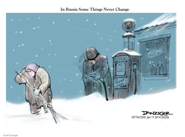 Cartoonist Jeff Danziger  Jeff Danziger's Editorial Cartoons 2015-01-11 gas